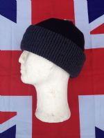 ***NEW***  BLACK AND DARK GREY KNITTED HAT WITH THINSULATE LINING